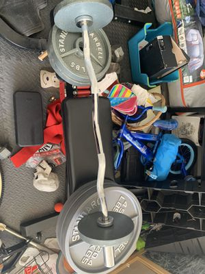 Weights bench squat rack for Sale in Los Angeles, CA