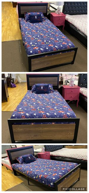 twin bed frame and mattress for Sale in Glendale, AZ