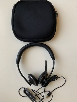 Plantronics blackwire C520 headset with mic and USB headphones rarely used with case for Sale in Scottsdale, AZ
