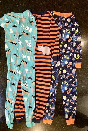 Three Carter's cotton open-footed onesies, 5T for Sale in Portola Valley, CA