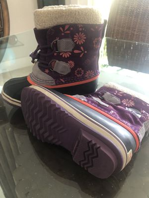 Girls SOREL WINTER BOOTS - Size 13 kids for Sale in Coral Gables, FL