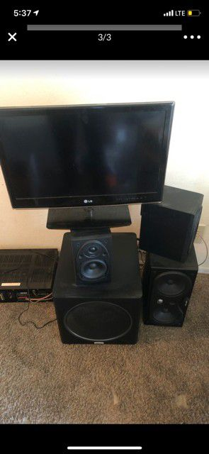 Polk audio Speakers and JVC reciever for home for Sale in Norcross, GA