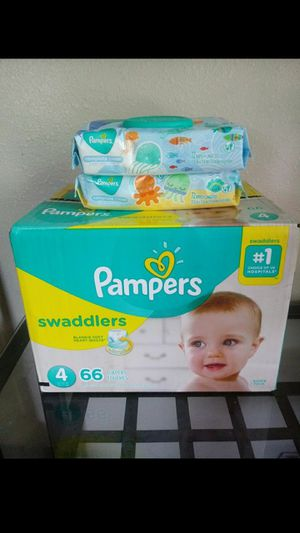 Pampers Swaddlers Size 4!!READ THE ADDDD💚👶💛 for Sale in Compton, CA