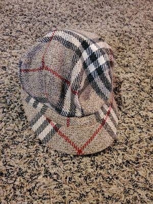 Womens plaid Burberry newsboy style hat size medium for Sale in Yorba Linda, CA