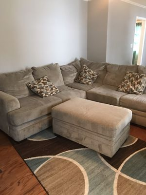 Sectional with sleeper for Sale in Durham, NC