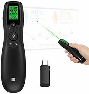 Presentation Remote with Type C Receiver, Wireless Presenter Green Laser Pointer PowerPoint Clicker for MAC MacBook/Air/Pro Mac Mini for Sale in Torrance, CA