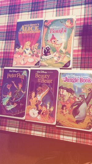 5 Disney Black Diamond Classic VHS for Sale in Greece, NY