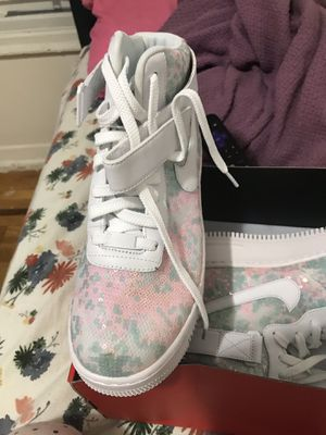 Womens Nike Air Force 1 Upstep Pink White LX Summer shine SZ 10 for Sale in Brooklyn, NY