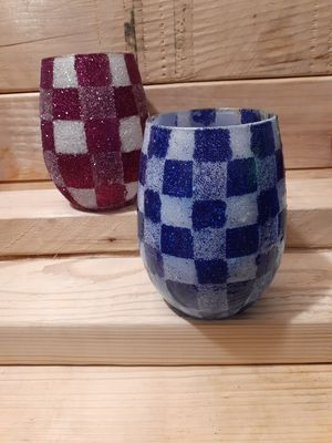Plaid wine glasses for Sale in Moreno Valley, CA