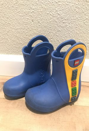 Blue Lego Croc rain boots size 7 for Sale in San Diego, CA