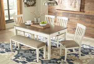 🌈[SPECIAL] Bardilyn Antique White/Brown Dining Set   D447 (3-6days Delivery)🌈 for Sale in Jessup, MD
