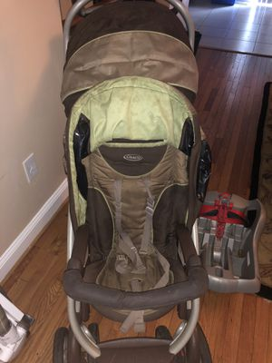 Graco 2 person stroller with baby car seat and baby car seat holder for Sale in Olney, MD