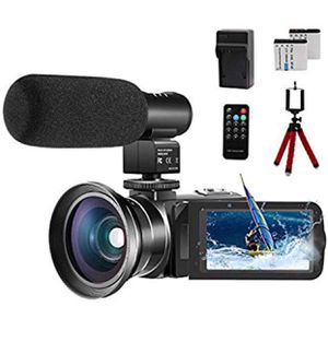 """Video Camera 1080P Camcorder 24.0MP Vlogging Camera for YouTube, 270° Flipping 3.0"""" IPS Touch Screen IR Night Vision with Microphone Wide Angle Lens for Sale in Upland, CA"""