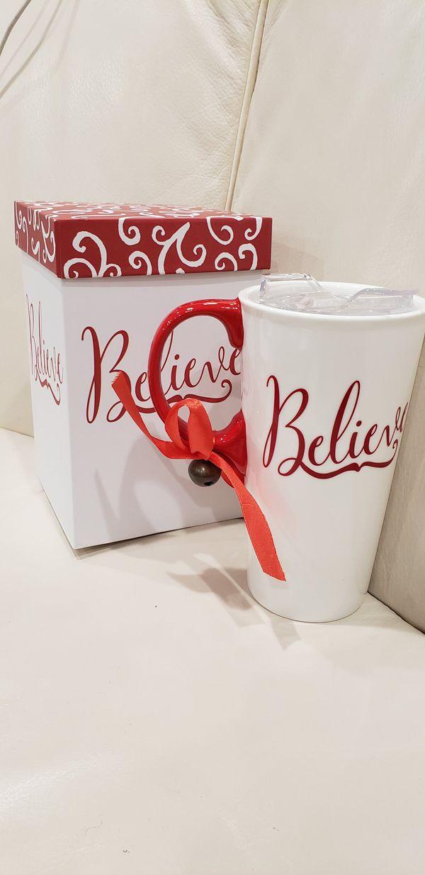 Believe Coffee Cup Mug & gift box NEW