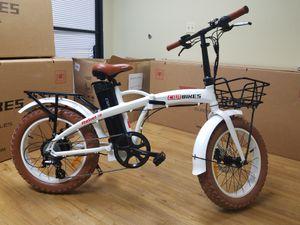 Compact Folding Electric Bike Bicycle eBike Fat Tire mini e-Bike rad 8 volts Samsung 500 watts of power for Sale in Downey, CA