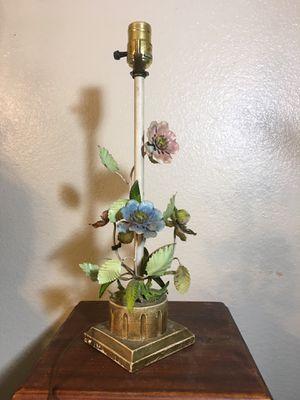 Vintage Italian lamp base - metal floral sculpture, gold-tone base. for Sale in Phoenix, AZ
