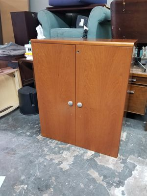 Two door cabinet with bookshelf $80 (good condition) for Sale in Houston, TX