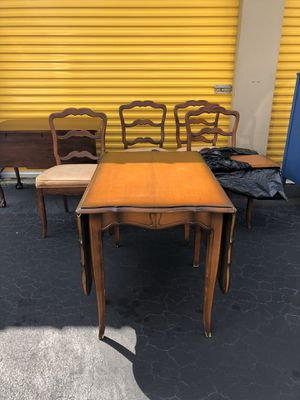 Antique table with four chairs for Sale in Tamarac, FL