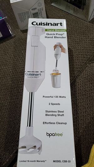 CUISINART QUICK PREP HAND BLENDER #CSB-33 WHITE NEW BOX for Sale in Ontario, CA