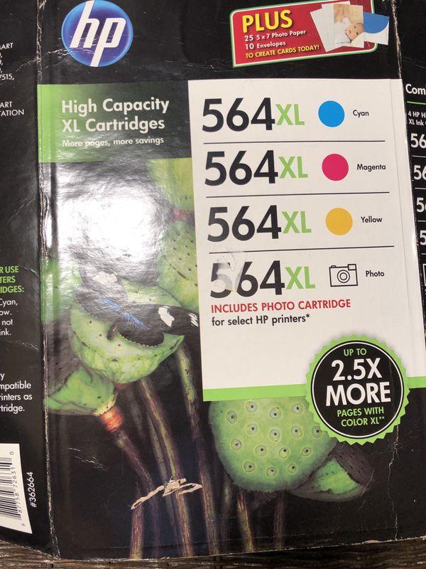 HP 564XL Ink 4Pack Exp 6/16 NIB New Sealed