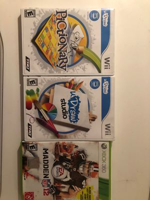 Three video games to Wii games one Xbox 360 video game mint condition no scratches for Sale in Revere, MA