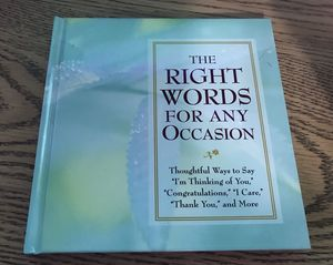 The right words for every occasion book for Sale in Elma, WA