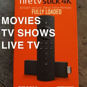 🔥 Fully Loaded🔥 Fire TV 4K Stick With Alexa Voice Remote 2020 for Sale in Waterbury, CT
