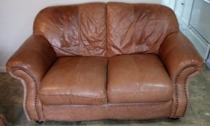 Leather sofa and love seat for Sale in Pasadena, TX