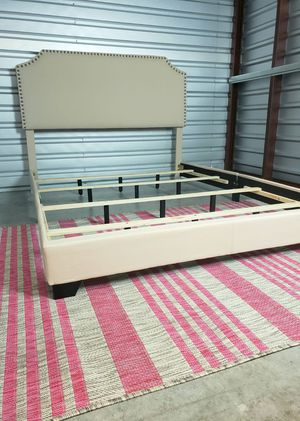 🌈NEW QUEEN upholstered BED FRAME, mattress sold separately for Sale in Boynton Beach, FL
