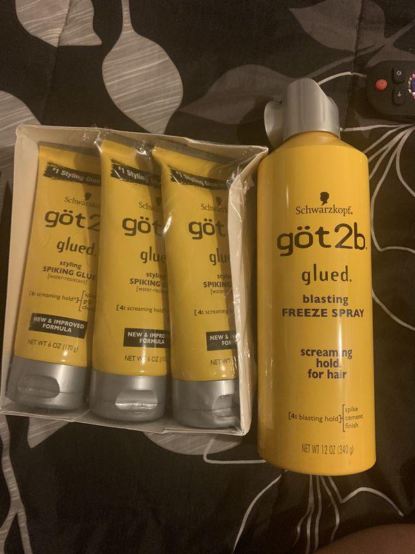 Got2b freeze spray and styling glue