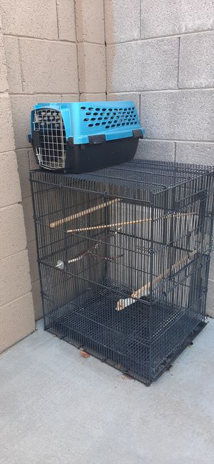 Bird cage and carrier for Sale in Phoenix, AZ