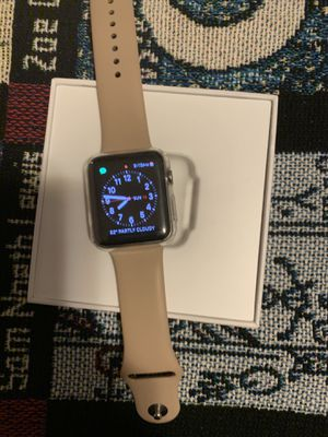 Apple Watch series 2 stainless steel 42mm Spotless No ding/scratches Almost NEW Charger and screen protector included for Sale in Atherton, CA