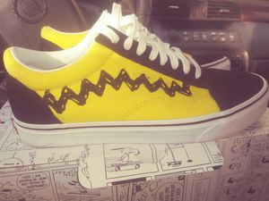 Peanuts Old Skool Vans Like new size 9.5 mens Size 11 in women. for Sale in Richmond, VA