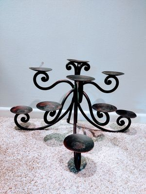 Handcrafted Rustic Scrolled Iron Mantle Candelabra for Sale in Pleasant Hill, IA