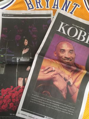 L.A Times Kobe&GG Bryant Memorial Tribute Newspaper {Mint Condition/Firm Price} for Sale in Los Angeles, CA