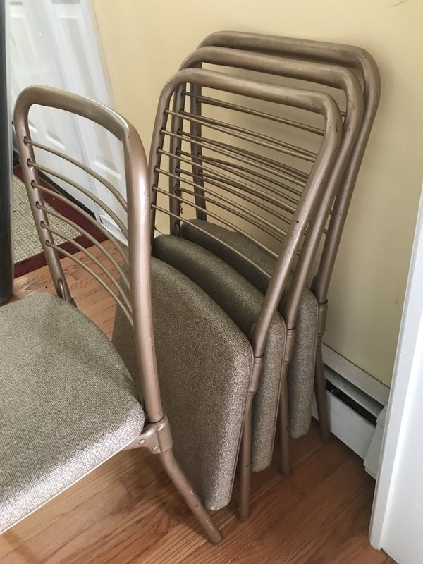 Vintage Folding Chairs (50s Era) (4 Chairs)