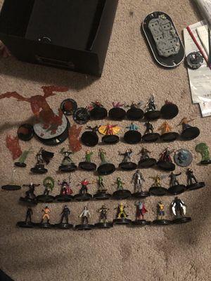 Big collection of Wizkids hero click figure, maps, and instructions for Sale in Canby, OR