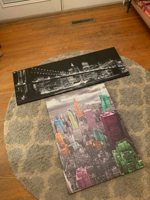 New York City cityscape canvas for Sale in Fairview Heights, IL