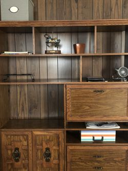 Vintage Solid Wood Heavy Book Shelf or Dresser/Closet With Drawers for Sale in College Park,  GA