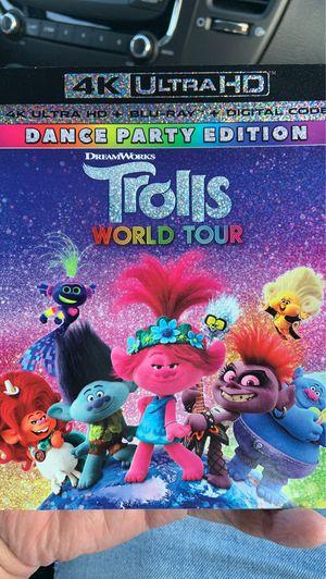Trolls world tour 4K ultra HD plus digital copy for Sale in West Covina, CA