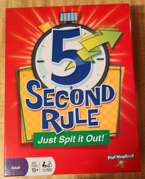 5 Second Rule.... Just Spit it Out Board Game for Sale in Bradenton, FL