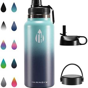 Stainless Steel Water Bottle With Straw, 32 oz Insulated Water Bottle, Double Walled Vacuum Water Bottle Wide Mouth Leakproof Water Bottle & Straw Lid for Sale in Brooklyn, NY