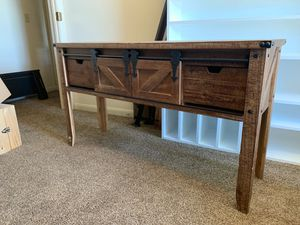 LIKE NEW!! Rustic Entertainment Console! Must Pick Up. for Sale in Abilene, TX