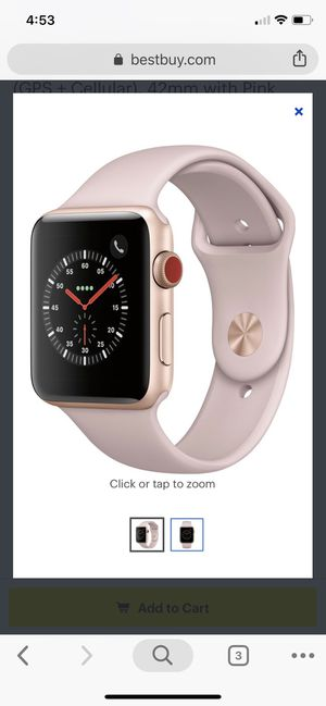 Apple Watch Series 3 LTE & GPS -extra charger and band included for Sale in Jacksonville, FL