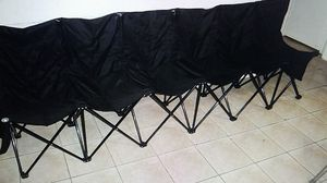 Portable folding bench 6 seats Oxford fabric chairs for Sale in Houston, TX