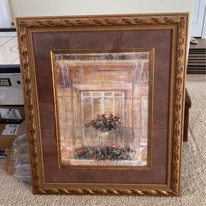 Italian Print With Large Frame And Matting for Sale in Phoenix, AZ