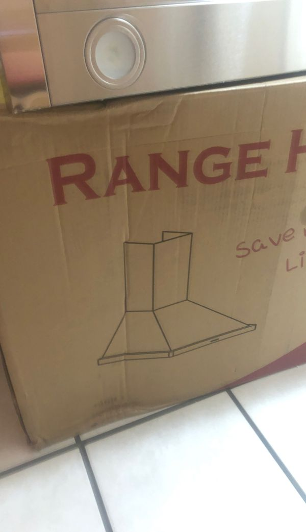 """30"""" STAINLESS WALL MOUNT HOOD NEW"""