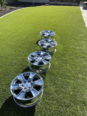 """Factory Ford 18"""" FX4 chrome wheels for Sale in Clovis, CA"""