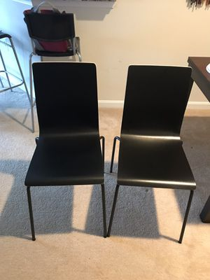 Ikea black wood chairs for Sale in Fairfax, VA