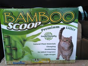 Bamboo cat litter 6 boxes 2.5 ibs EA for Sale in Middletown, PA